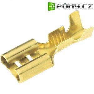 Faston zásuvka Vogt Verbindungstechnik 3760A.60 2.8 mm x 0.5 mm, 180 °, bez izolace, kov, 1 ks