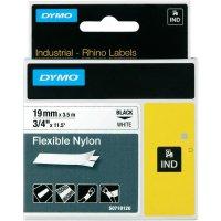 Páska do štítkovače DYMO 18759 (S0718120), 19 mm, IND RHINO, 3,5 m, černá/bílá