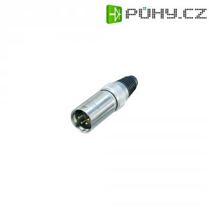 XLR kabelová zástrčka Neutrik X-HD-Serie, rovná, 4pól., 3,5 - 8 mm, IP65, stříbrná