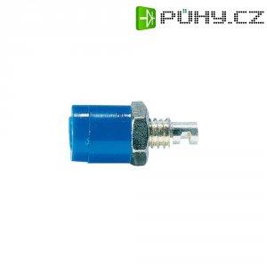 Labor. konektor Ø 2 mm Schnepp BU 2400, zásuvka vest. vert., modrá