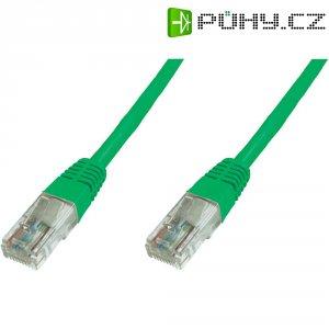 Patch kabel CAT 6 U/UTP RJ 45, vidlice ⇔ vidlice, 1 m, zelený