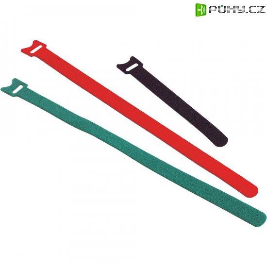 Stahovací páska se suchým zipem Fastech 26040-00, (d x š) 200 mm x 13 mm, zelená, 1 ks - Kliknutím na obrázek zavřete