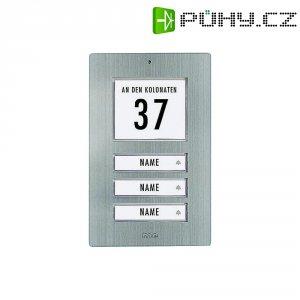 Zvonková deska M-e GmbH KT 3-EG, 3 tlačítka, max. 12 V/1 A , nerez