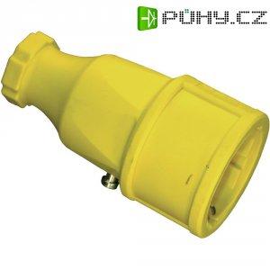 Zásuvka na kabel, 176, gumová, schuko, žlutá