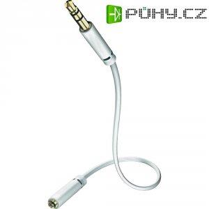 Kabel jack 3,5 mm ⇒ zásuvka jack 3,5 mm, 1,5 m, bílý, Inakustik