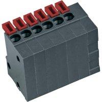 Pružinová svorkovnice 10nás. Push-In AKZ4791/10KD-2.54-V (54791100421D), 2,54 mm, šedá
