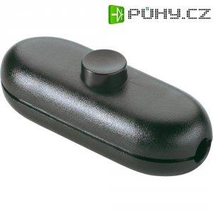Šňůrový vypínač interBär , 1pólový, 250 V/AC, 2 A, titan/černá