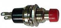 Tlačítko ON-(OFF) 1pólové 250V/1A červené rozpinaci