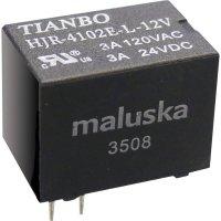 Miniaturní relé Tianbo Electronics HJR4102E-L-12VDC-S-Z, 5 A , 60 V/DC/ 240 V/AC , 360 VA/ 90 W