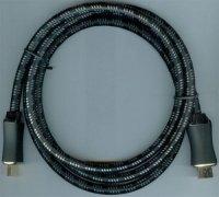 Kabel HDMI(A)-HDMI(A) 1,5m, opletený kabel 8mm DOPRODEJ,,,