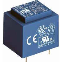Transformátor do DPS Block EI 30/12,5, 230 V/2x 6 V, 2x 100 mA, 1,5 VA