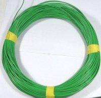 Vodič-lanko 0,5mm2 zelený, balení 100m,vnější průměr 2mm