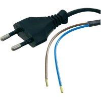 Síťový kabel Hawa, zástrčka/otevřený konec, 0,75 mm², 2 m, černá, 1008205