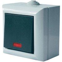 Vypínač s kontrolkou GAO Business-Line, 9165, šedá