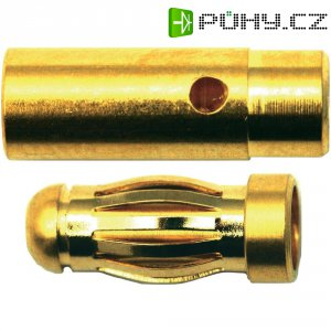 Kontakt 3 mm Modelcraft, zástrčka a zásuvka, zlacený, 2 páry