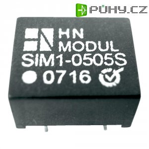 DC/DC měnič HN Power SIM1-1515S-DIL8, vstup 15 V, výstup 15 V, 85 mA, 1 W
