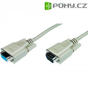 Kabel VGA vidlice ⇔ zásuvka, 5 m, šedý