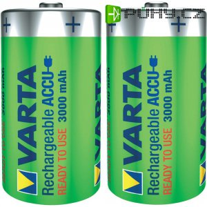 Akumulátor Varta Ready2Use, NiMH, D, 3000 mAh, 2 ks