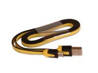 Kabel USB - Micro USB plochý žlutý 80 cm CPA