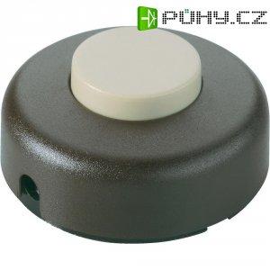 Nášlapný vypínač interBär, 1pólový, 250 V/AC, 2 A, bílá/bílá