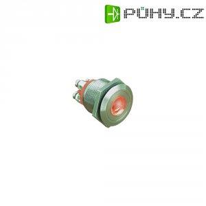 Tlačítko s ochranou proti vandalismu ESKA Bulgin, 1x vyp/(zap), 24V/DC, 0,05 A, 22 mm, červená