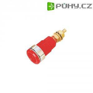 Laboratorní zásuvka SKS Hirschmann 260-G=SEB (972354101), vestavná vertikální, Ø 4 mm, červená