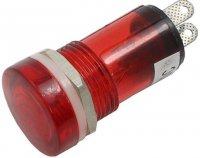 Kontrolka 12V červená, průměr 18mm