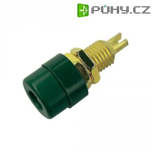 Laboratorní konektor Ø 4 mm SKS Hirschmann BIL 20 Au (930176704), zás. vest. vert., zelená