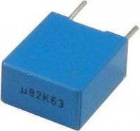 820n/63V TC352, svitkový kondenzátor radiální, RM=7,5mm