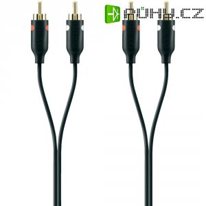 Připojovací kabel Belkin, cinch zástr./cinch zástr., černý, 5 m, pozl.kontakty