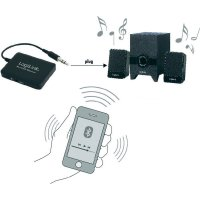 Bluetooth audio přijímač LogiLink BT0020, dosah 10 m, 2,4 GHz