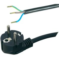 Síťový kabel Hawa, zástrčka/otevřený konec, 1 mm², 2 m, černá, 1008219