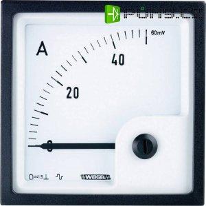 Analogové panelové měřidlo Weigel PQ96K 100A/60mV 100 A/DC (60mA)