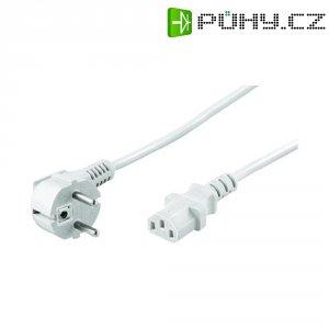 Síťový kabel s IEC zásuvkou Goobay 51321, 5 m, bílá
