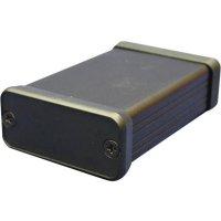 Hliníkové pouzdro 1455 Hammond Electronics 1455K1601BK, 162 x 78 x 43 , černá