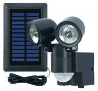 Solární LED svítidlo s detektorem pohybu GEV, 000858, černá