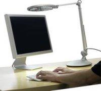 Stolní LED lampa L750, 5 W, metalická, bílá