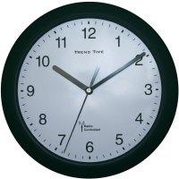 DCF nástěnné hodiny 56785, Ø 25 cm, černá
