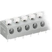Pájecí svorkovnice 4nás. série 804 WAGO 804-304, AWG 20-16, 7,5 mm, šedá/bílá