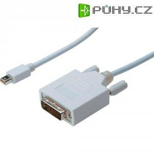 Kabel DVI vidlice ⇔ Mini-DisplayPort vidlice, 1 m, bílý