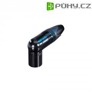 XLR kabelová zástrčka Neutrik NC 4 MRX-B, úhlová, 4pól., 3,5 - 8 mm, černá