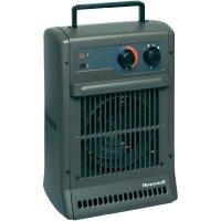 Kovový topný ventilátor Honeywell HZ-2104E, ventilace/1250/2500 W, šedá