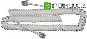 Telefonní kabel kroucený bílý 5m (4P4C) RJ9