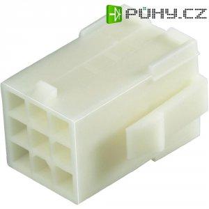 Pouzdro TE Connectivity 172163-01, zásuvka rovná, 600 V/AC, bílé