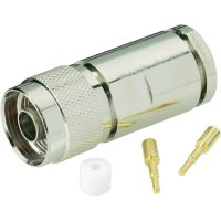 Konektor N BKL Electronic 404061, 50 Ω, zástrčka rovná