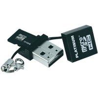 Pamětová karta microSDHC Platinum 32GB, Class 4, USB čtečka