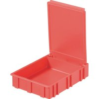 Box pro SMD součástky Licefa, N42266, 68 x 57 x 15 mm, červená