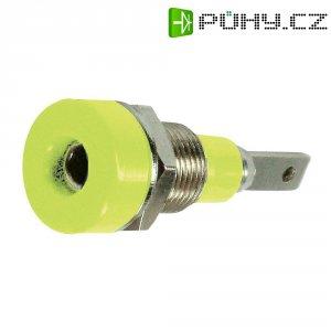 Laboratorní konektor Ø 2 mm MultiContact 23.0030-20, zásuvka vestavná vert., zelenožlutá