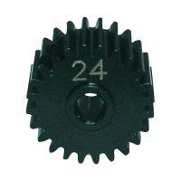 Ocelový motorový pastorek Reely, 24 zubů (EL02411S)