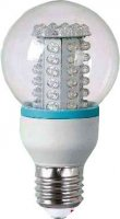 Žárovka LED E27 koule-60x,bílá,230V